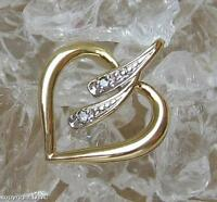 Anhänger mit Diamant Diamanten Herz in aus 333er Gold Damen Herren