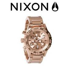 AUTHENTIC NIXON 42-20 CHRONO WATCH ROSE GOLD A037 897  A037897