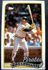 1989 Topps Baseball Talk Card Mike LaValliere Pittsburgh Pirates # 126