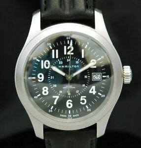 HAMILTON Khaki Mechanical MENS 40mm Date 24HR Watch H695190 ETA 2804 SWISS MADE