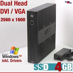Computer PC 4GB SSD For Windows XP Pro 512MB RS-232 Dual DVI VGA Head 2560x1600