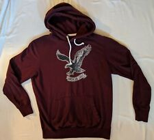 Mens AMERICAN EAGLE Vintage Classic Fit Front Pocket Hoodie Maroon Size LT LN SS