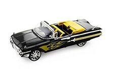 1:18 Diecast 1960 Chevy Impala Model Car In Black/Yellow From Motormax (79009)