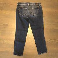 Paige Premium JIMMY JIMMY CROP Stretch Denim Jeans Dark Blue Woman's Size 25
