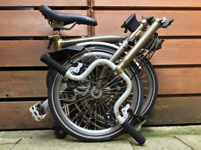BROMPTON M-TYPE M6L RAW 6 SPEED FOLDING BIKE BICYCLE - WORLDWIDE POSTAGE