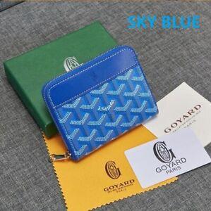Brand New GOYARD GOYARDINE Leather Saint Sulpician Coin Pocket Wallet Fold Purse