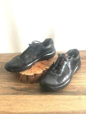 PRADA America's Cup PS 0906 Leather Sneakers / Driving Shoes ~ Mens Sz 8 Black