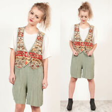 WOMENS VINTAGE ABSTRACT PLAYSUIT AZTEC PATTERNED FESTIVAL WAISTCOAT ROMPER 14