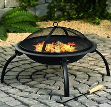 GARDEN OUTDOOR PATIO FIRE PIT BOWL BRAZIER WOOD CHARCOAL HEATER CAMPING BBQ GIFT