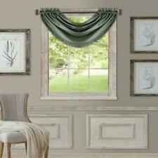 "Elrene Versailles Room Darkening Waterfall Window Valance 52 x 36"" Green Thyme"