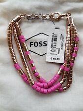 Fossil Armband 3 Fach Rosèfarben mit farbigen Elementen UVP 49€