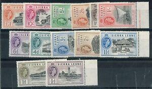 Sierra Leone SC# 195-207 VF Mint OG LH