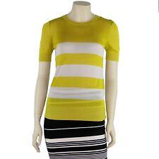 NWT KERISMA Round/Crew NECK Short Sleeve Sweater Knit Top Stripe KH117
