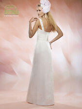 NEW Marys Bridal Gown Civil Wedding Dress Satin One Shoulder 2524 Ivory SZ 10