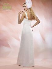 NEW Marys Bridal Gown Civil Wedding Dress Satin One Shoulder 2524 Ivory SZ 10