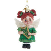 Kurt Adler Green Scottish Irish Angel Christmas Tree Glass Ornament Home Decor