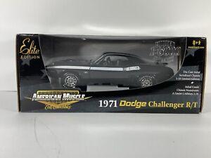 1/18 ERTL AMERICAN MUSCLE 1971 DODGE CHALLENGER R/T BLACK ~ ELITE 1/1500 limited