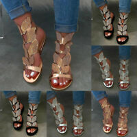 Women Rhinestone Bling Flat Sandals Ladies Summer Party Ankle Strap Buckle Shoes