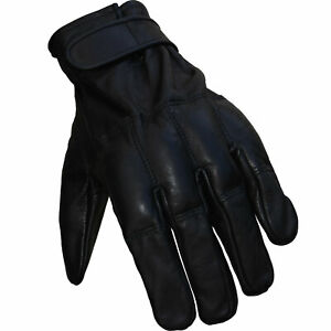 ANTI RIOT Sand Padded Heavy Duty Bouncer FULL LEATHER Biker Cycling Gloves