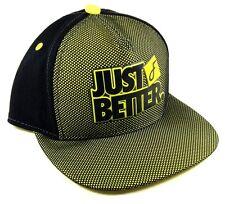 FLAT FITTY LUXURY JUST BETTER DO IT YELLOW BLACK MESH SNAPBACK HAT CAP FLAT BILL