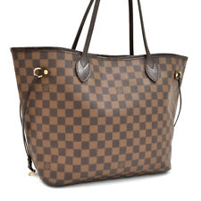 Auth LOUIS VUITTON Damier Ebene Neverfull MM N51105 Tote AG1507 Free Shipping