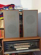 Vintage German Telefunken Röhrenradio Opus Studio 2650 15W W passendes Lautsprecher Set