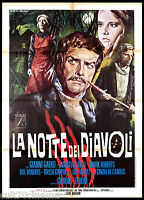 LA NOTTE DEI DIAVOLI MANIFESTO CINEMA AGOSTINA BELLI HORROR 1972 MOVIE POSTER 2F