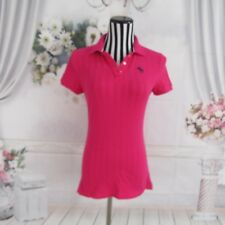 Abercrombie Fitch Pink Polo Short  Sleeve Shirt Top Size M