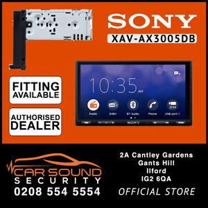 Sony XAV-AX3005DB DAB Radio Screen with Carplay&Android Auto (Free DAB Antenna)