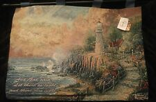 """Official 36"""" x 26"""" Light of Peace Tapestry Wall Hanging w/Verse Thomas Kinkade"""