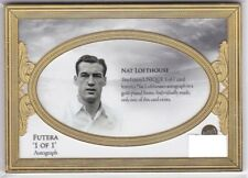 Nat Lofthouse England 2018 Futera Unique Gold Plated Frame Auto Autograph 1/1