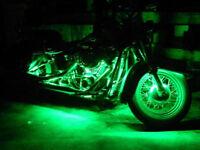 Green 4pcs 30CM/15 LED Car Motors Truck Flexible Strip Light Waterproof 12V~~