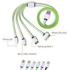 1M 4 in 1 USB Charger Cable for iPhone X/7 Plus/6/4 Samsung Tab Sony Multi Plug