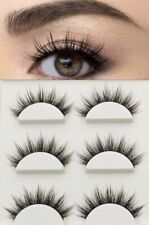 NEW NATURAL 3 Pairs Faux 3D Mink False Lashes .USA STOCK. FAST SHIPPING .