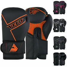 VELO Boxing Gloves Punch Bag Mitts Training Hand Wraps Sparring Muay Thai Fight