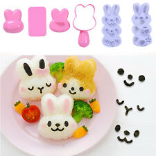 Rabbit Sushi Rice Mold Maker Sandwich Cutter Decorating For Kids Bento Tool set