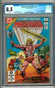 Masters of the Universe #1 (1982) CGC 8.5 White Pages  Kupperberg - Tuska