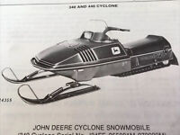John Deere Cyclone & Liquifire Snowmobiles Parts Catalog PC-1517
