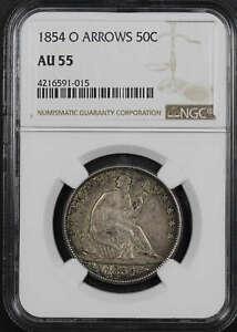 1854-O Seated Liberty Half Dollar Arrows NGC AU-55