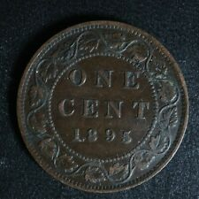 1 cent 1895 Canada one penny copper large Queen Victoria c ¢ F-15