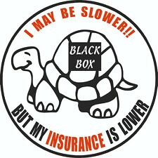 Blackbox Fitted Funny Car Sticker Decal  Young driver Insurance Black box 150mm