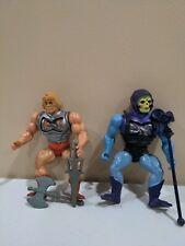 Vintage Battle Armor He-Man And Skeletor MOTU 1981 Tiawan Figures