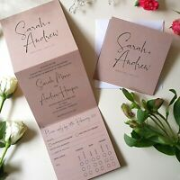 Personalised Wedding Invitations With Envelopes - Rustic Wedding Invites - SALE