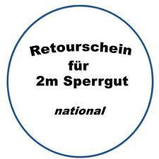 Rückversand-Etikett Sperrgut (DE)