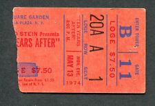 Original 1974 Ten Years After Zz Top concert ticket stub Madison Square Garden