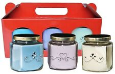 Christmas Gift Set - 3 Scented Candles: Clean Linen, Lavender, Vanilla Candles