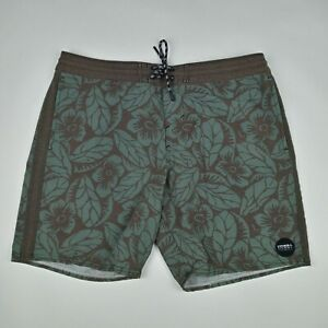 O'NEILL Cruzers Board Shorts w/ Pockets Unlined Floral Tropical Men's Size 34