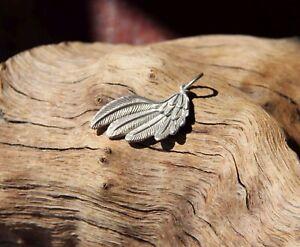925 Silber Engel Flügel Feder Anhänger Schutz Amulett Engelsflügel Talisman