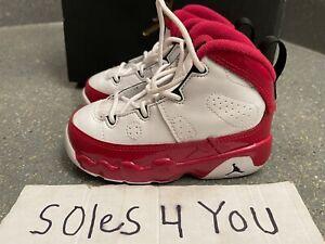 Nike Air Jordan 9 Retro Cherry Red White 401812-160 Size 6c With OG Box