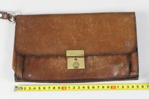 D1/Antique Leather Men's Bag With Various Compartments - Approx. 25x15 CM 374 Gr